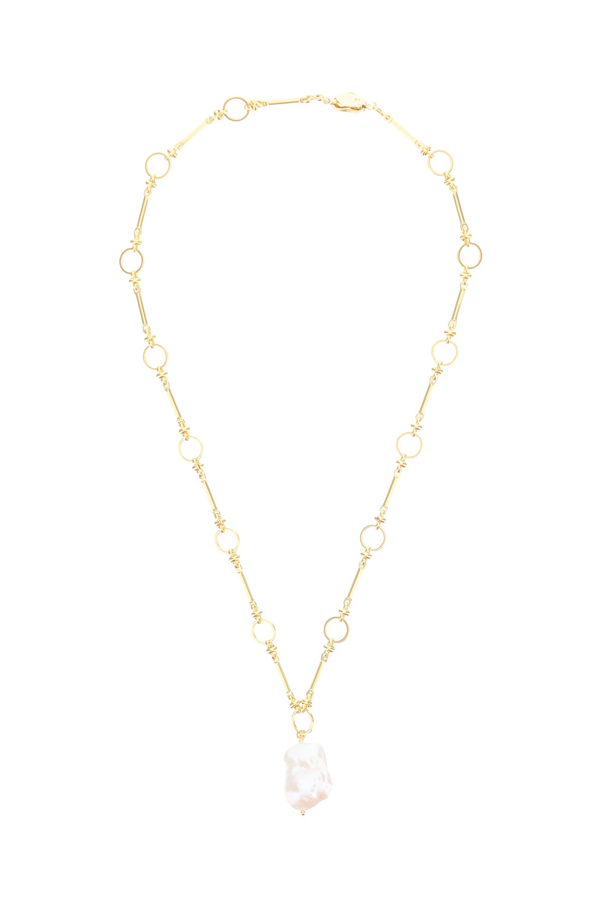 Timeless Pearly Chain Necklace With Pearl