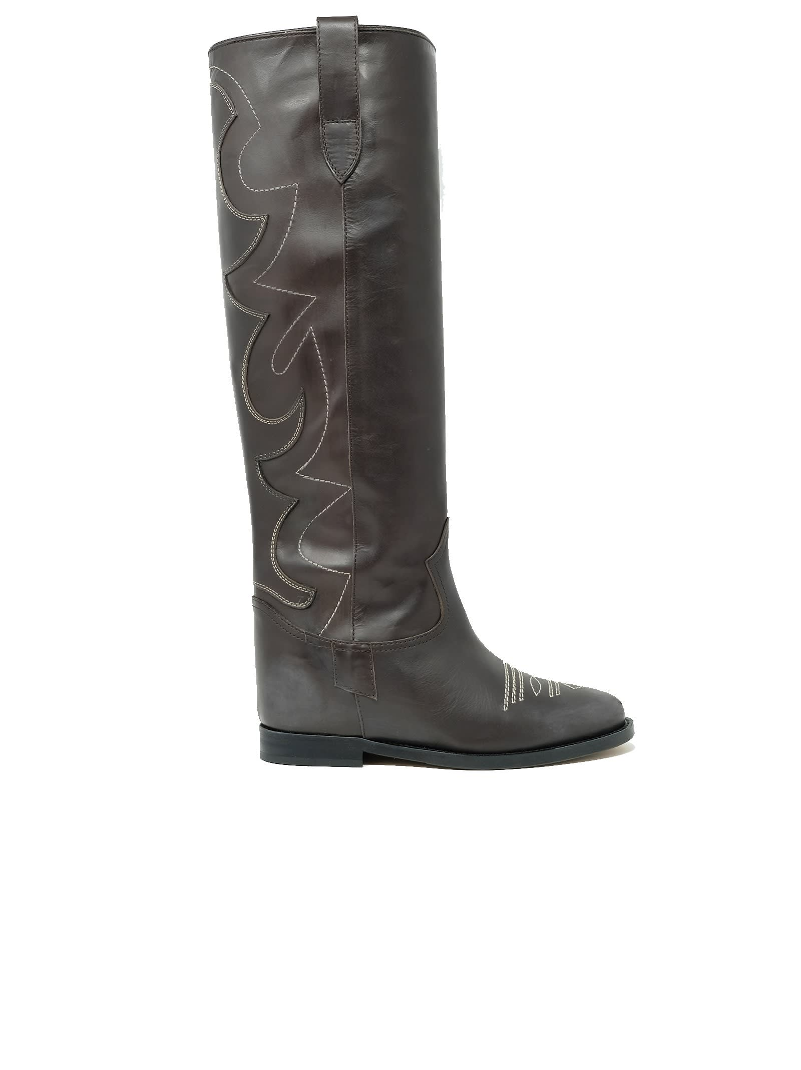 Via Roma 15 Brown Leather Boots