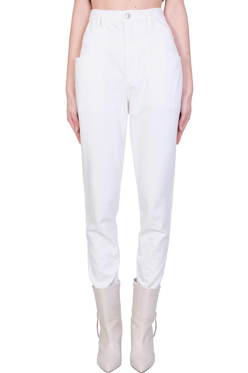 Isabel Marant Padeloisasr Jeans In White Denim