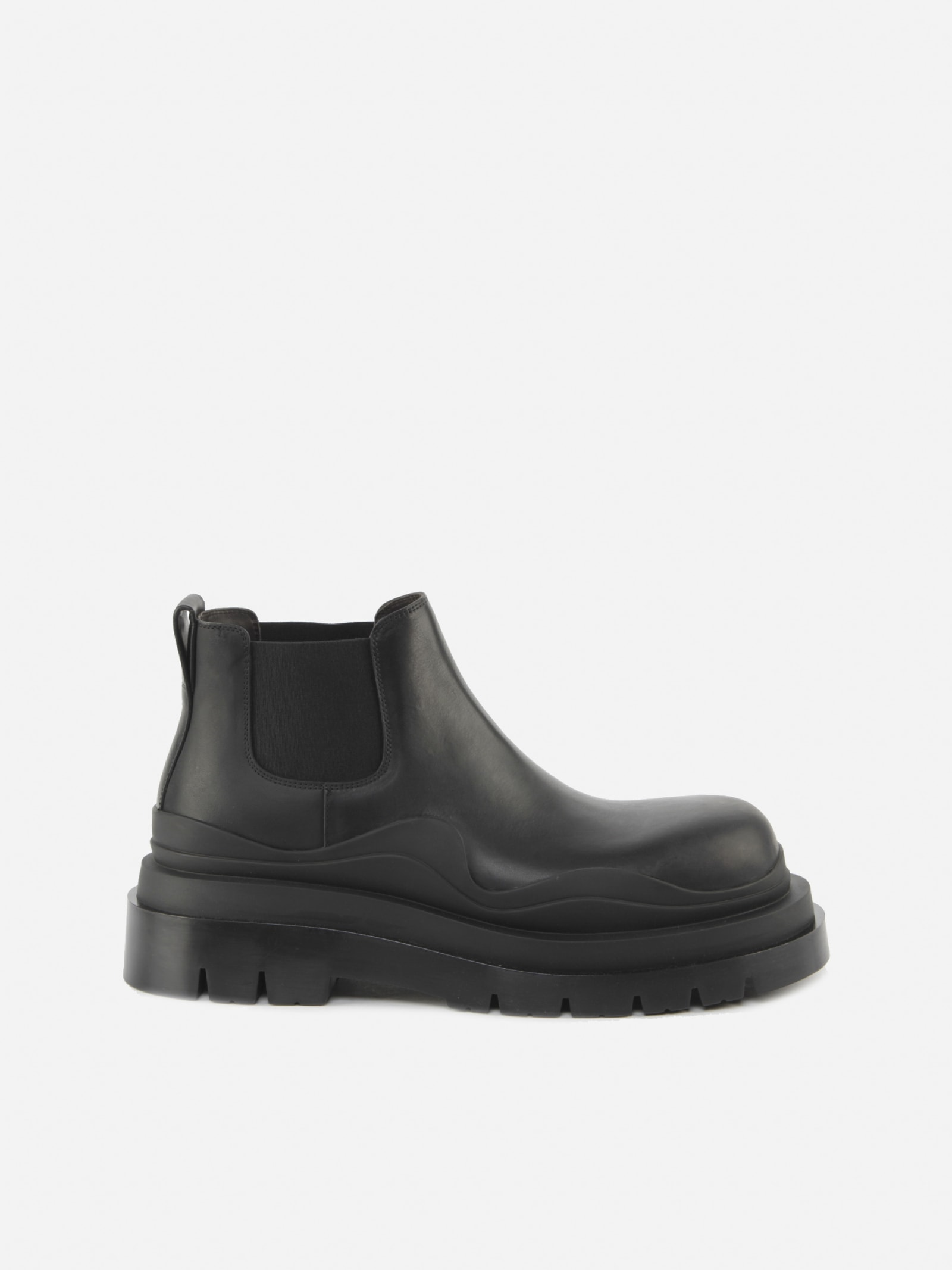 Bottega Veneta Bv Tire Ankle Boots Made Of Smooth Leather