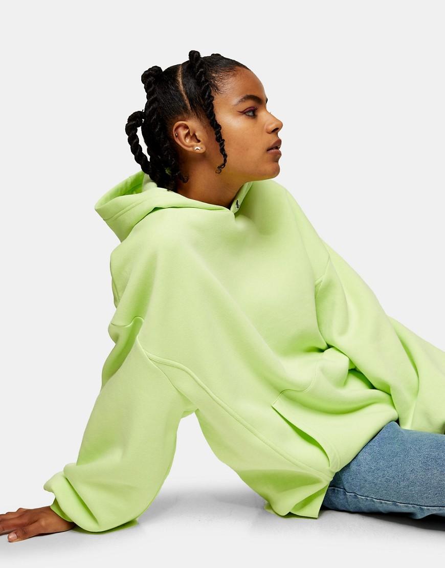 Topshop Considered eyelet hoodie in green