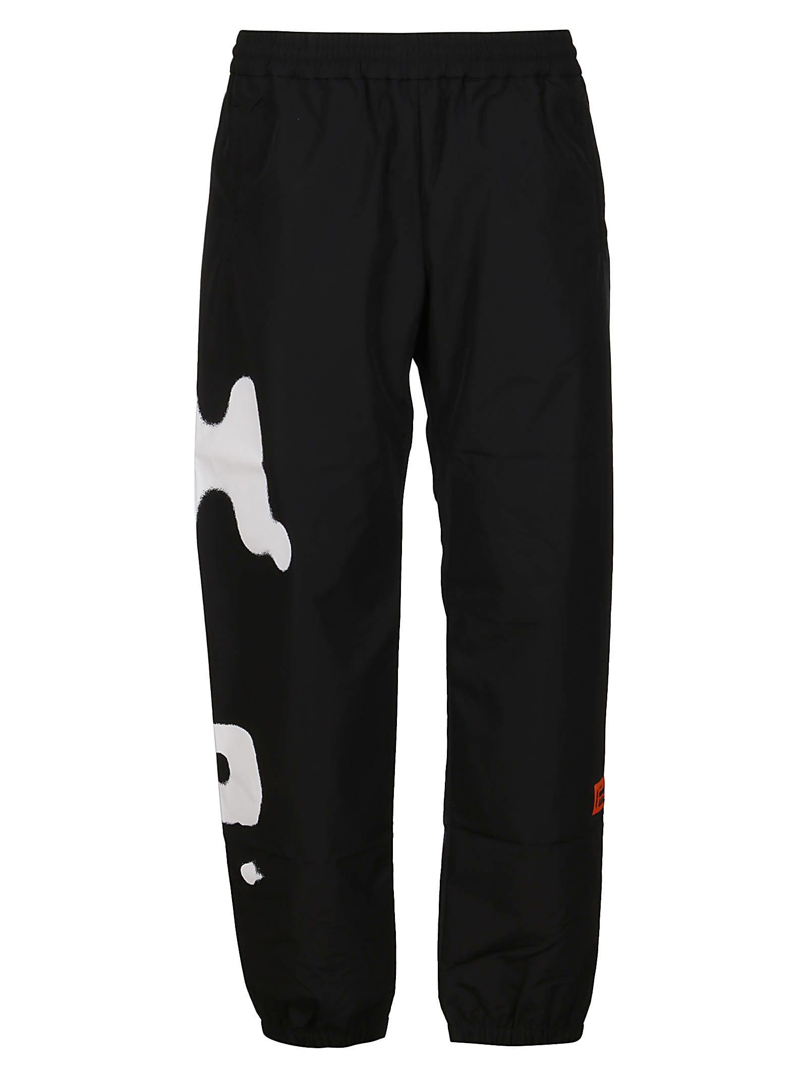 HERON PRESTON Black Cotton Track Pants