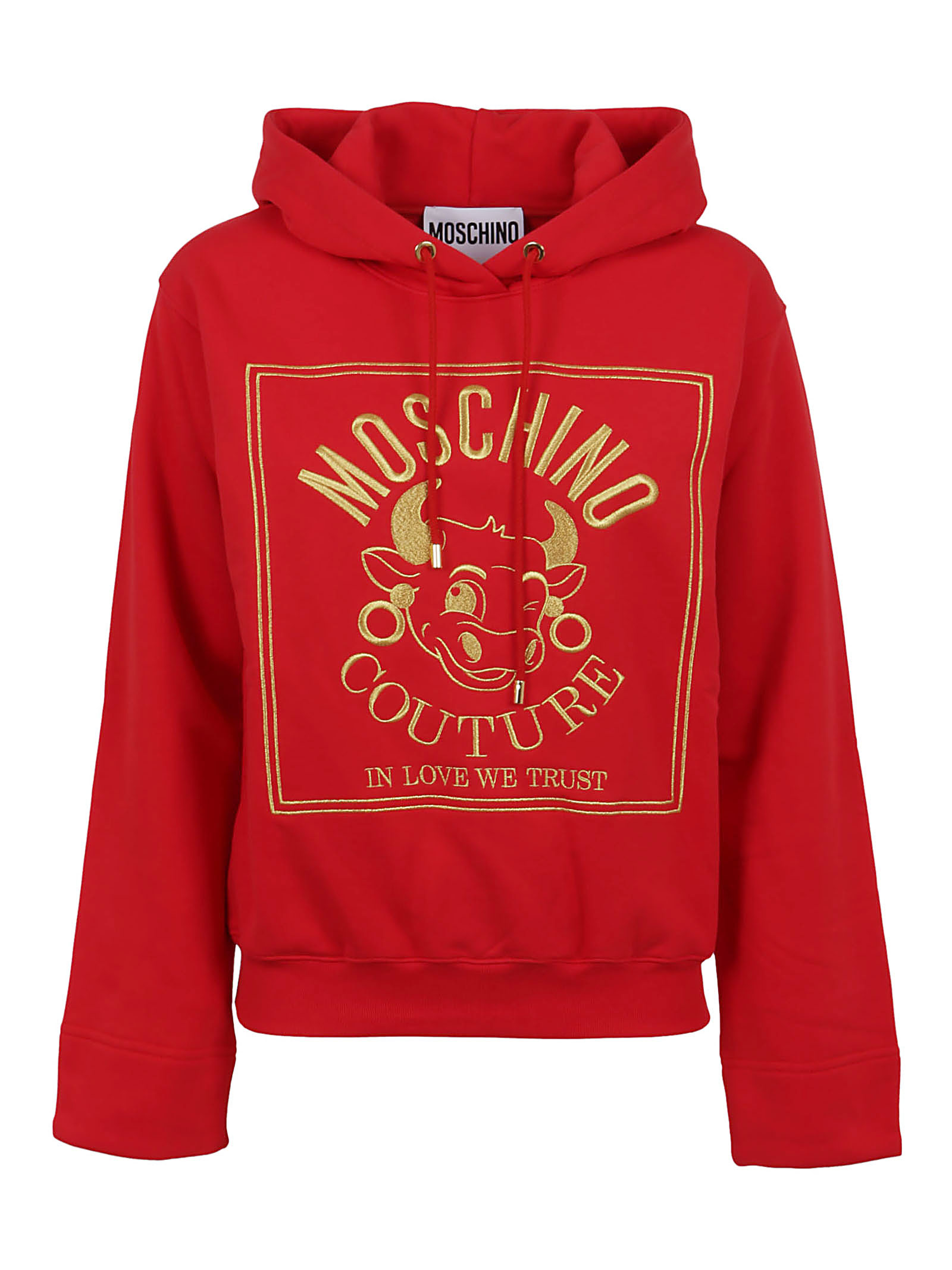 Moschino In Love We Trust Hooded Sweatshirt