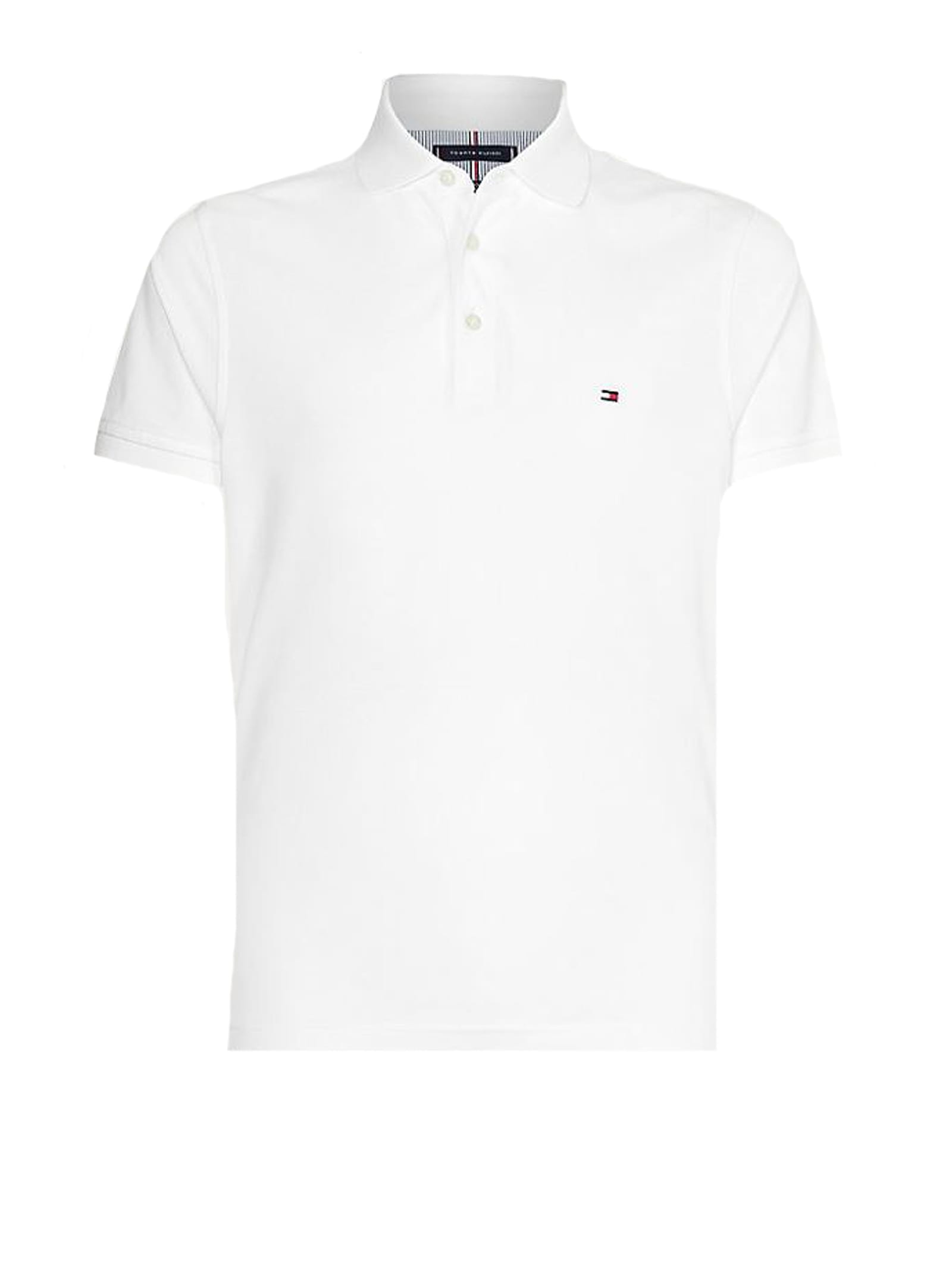 Tommy Hilfiger Polo Shirt In White Cotton