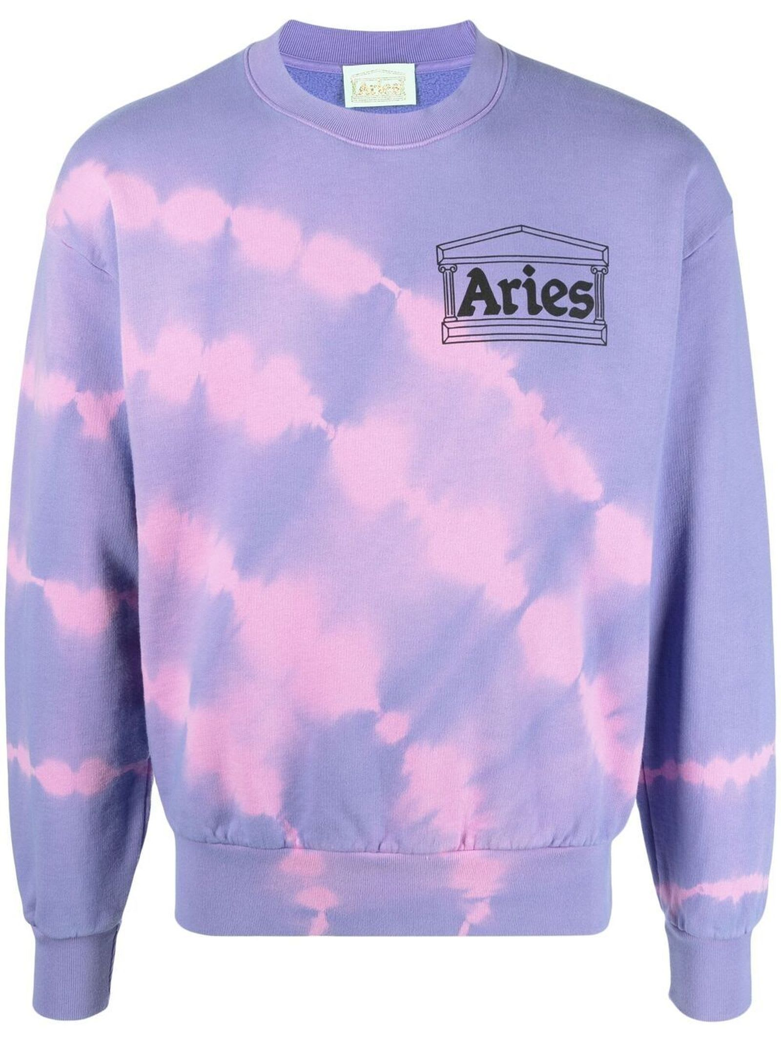 Aries Lilac Purple Cotton Sweatshirt