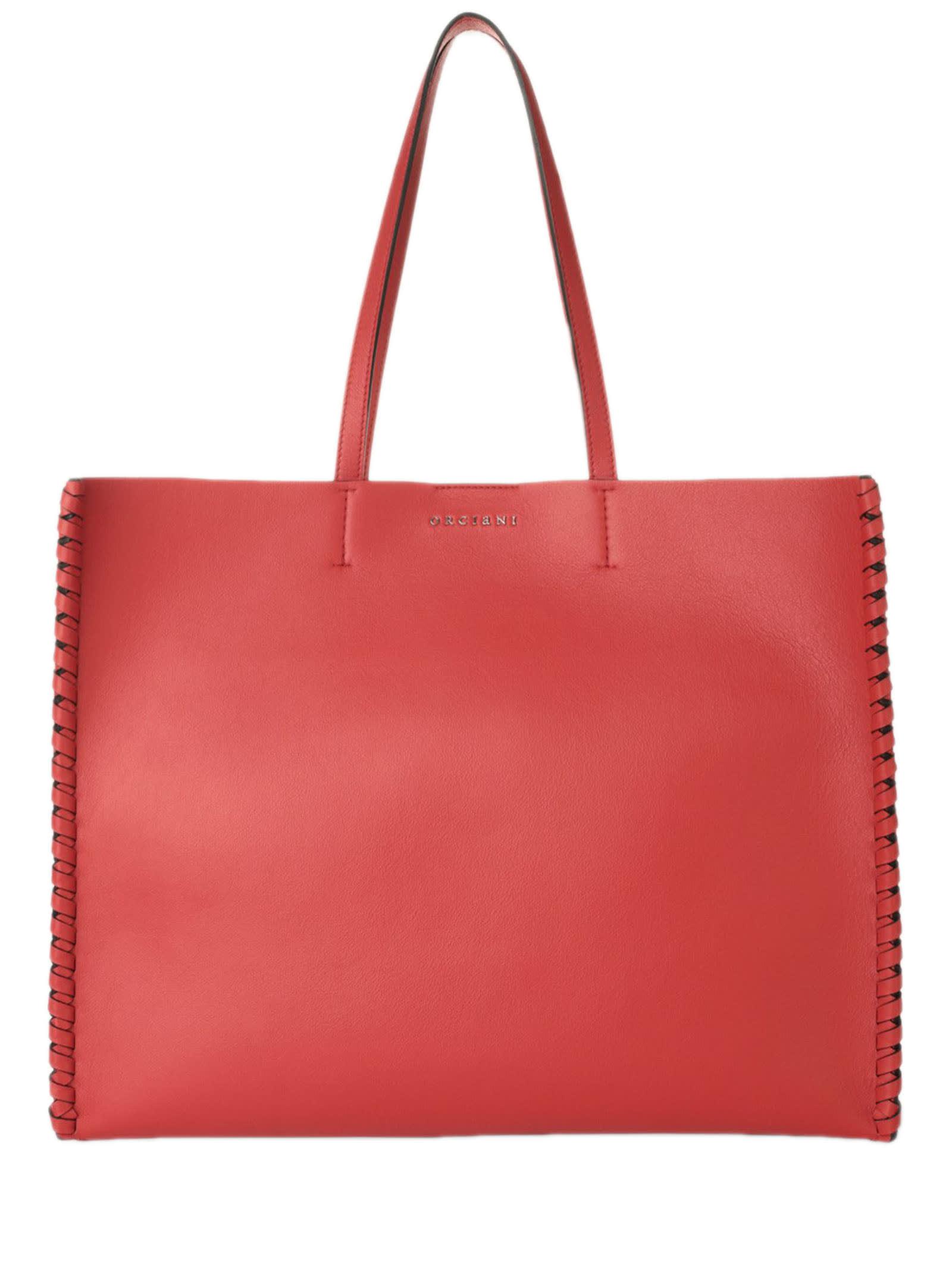 Orciani Le Sac Liberty Mesh Red Tote Bag
