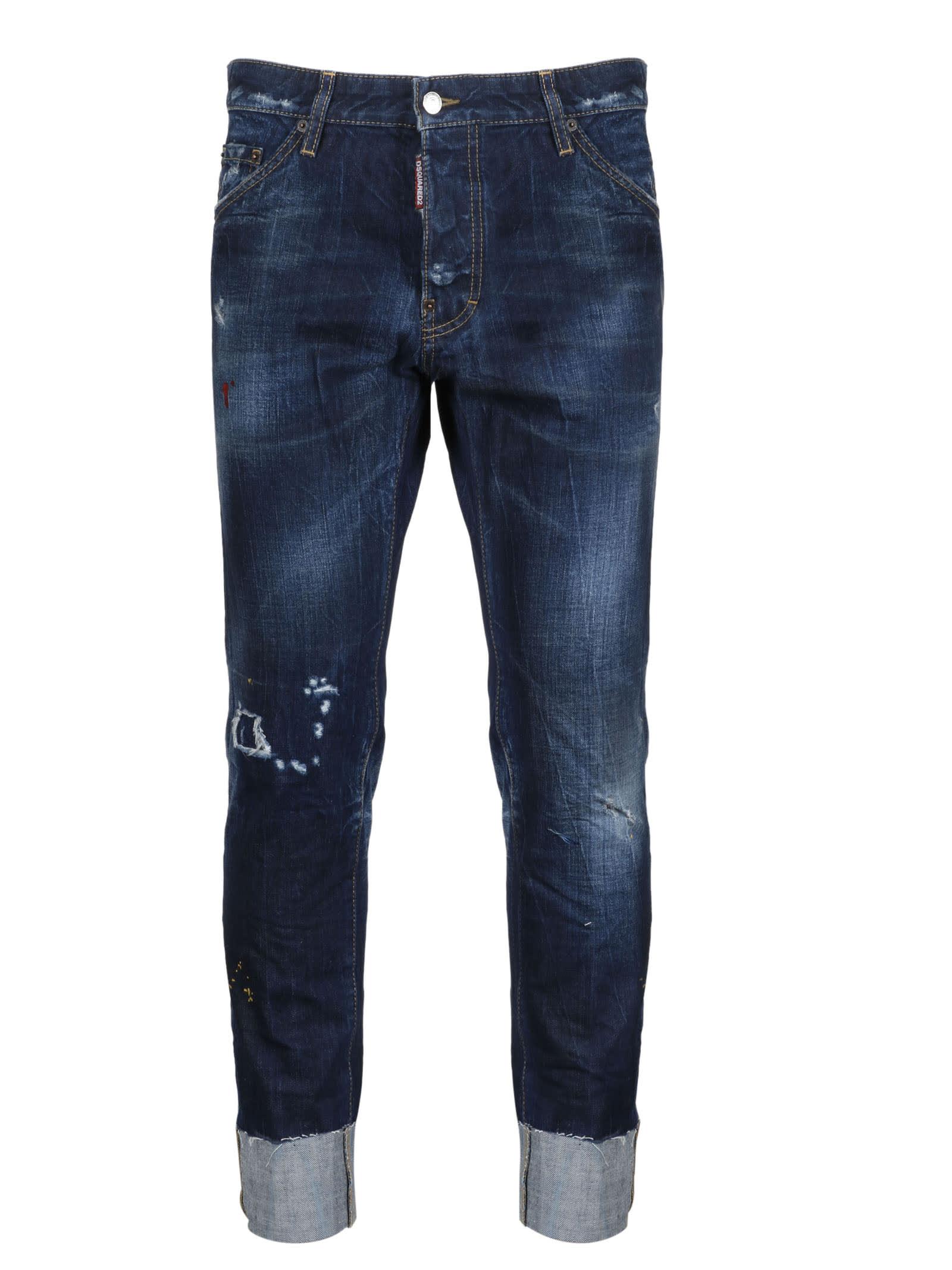 Dsquared2 Dark Vivo Cuff Jeans