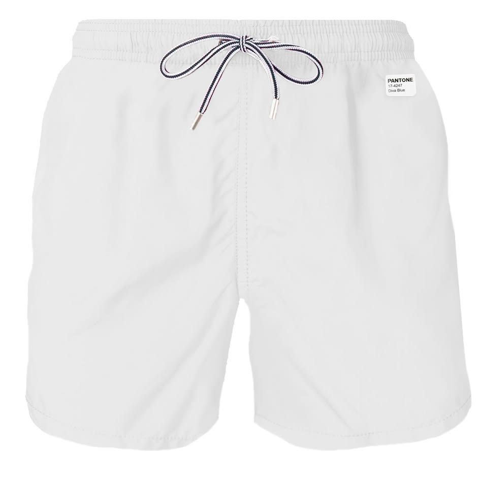 MC2 Saint Barth White Light Fabric Swim Shorts - Pantone® Special Edition
