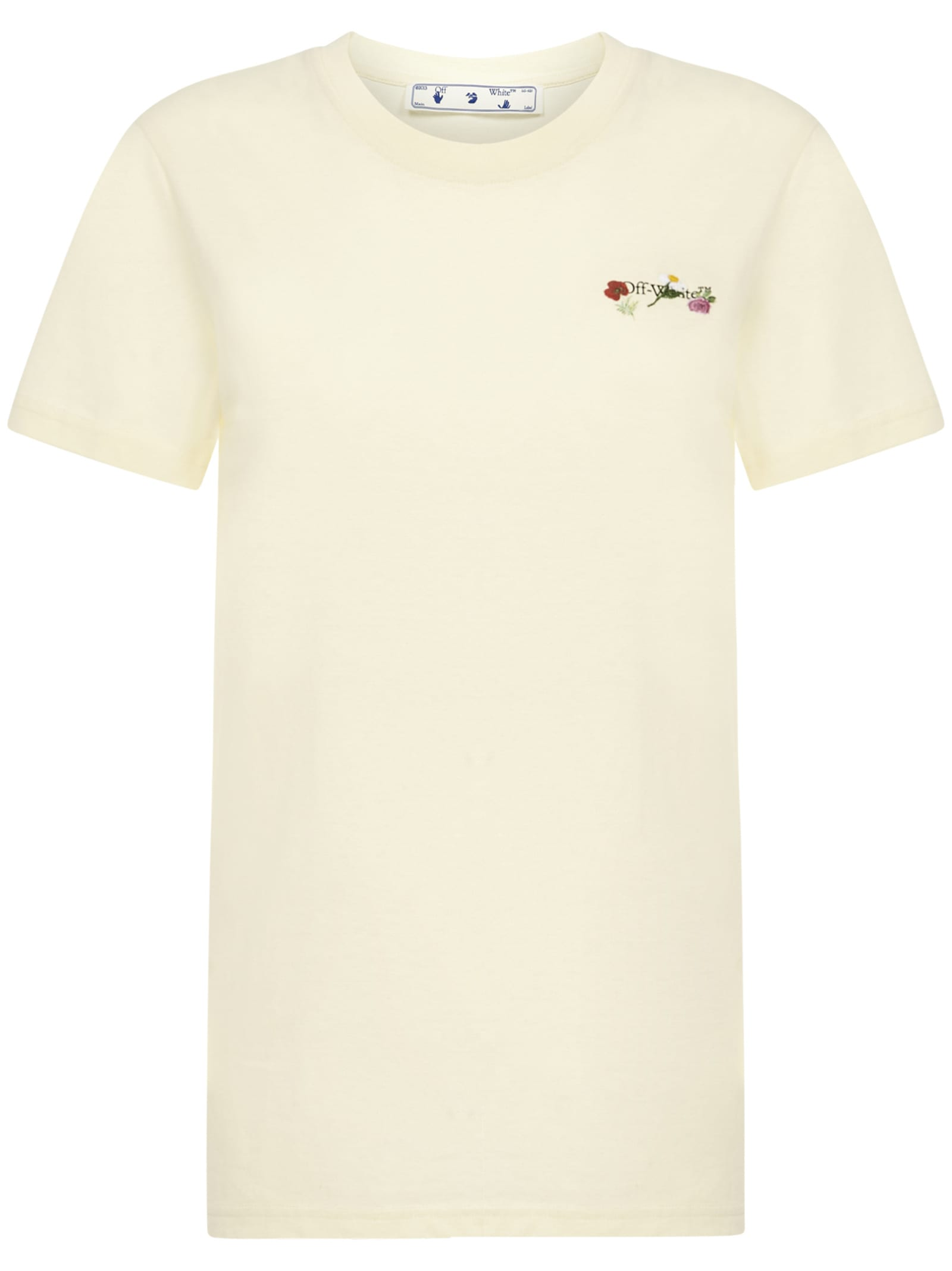 Off-white Embroidered Flowers Arrow T-shirt
