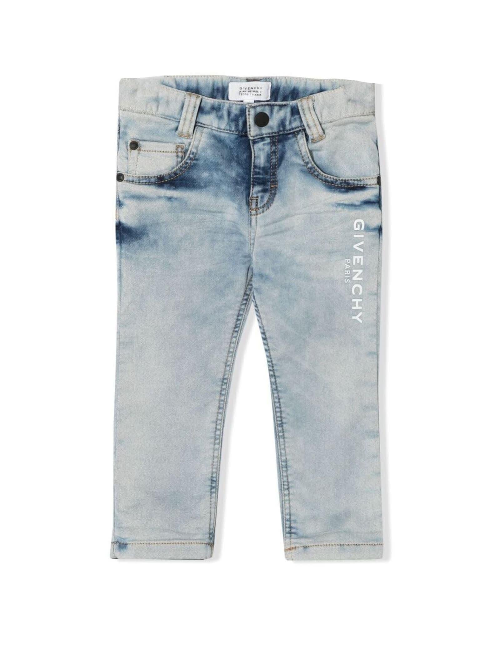 Givenchy Grey Stretch Cotton Blend Jeans