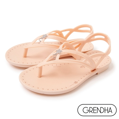 Grendha 魔法星星平底涼鞋-女童-粉膚