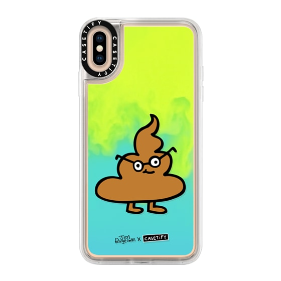 CASETiFY iPhone Xs Max Neon Sand Liquid Case - Clever Sh1t by Jon Burgerman
