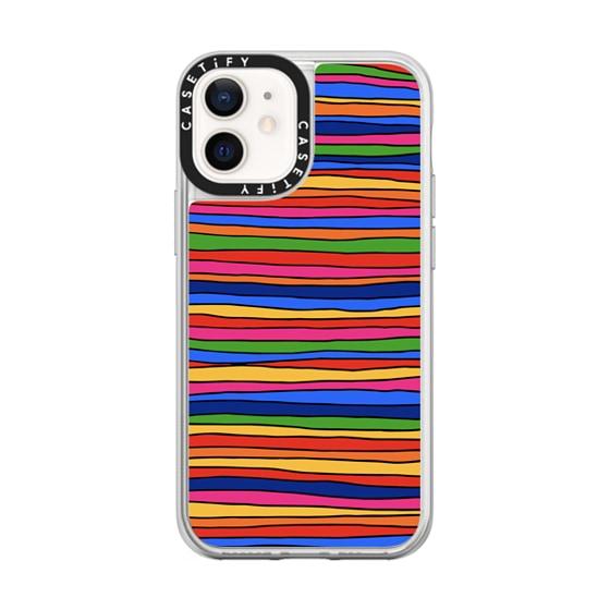 CASETiFY iPhone 12 mini Neon Sand Liquid Case - Stripes by Matthew Langille