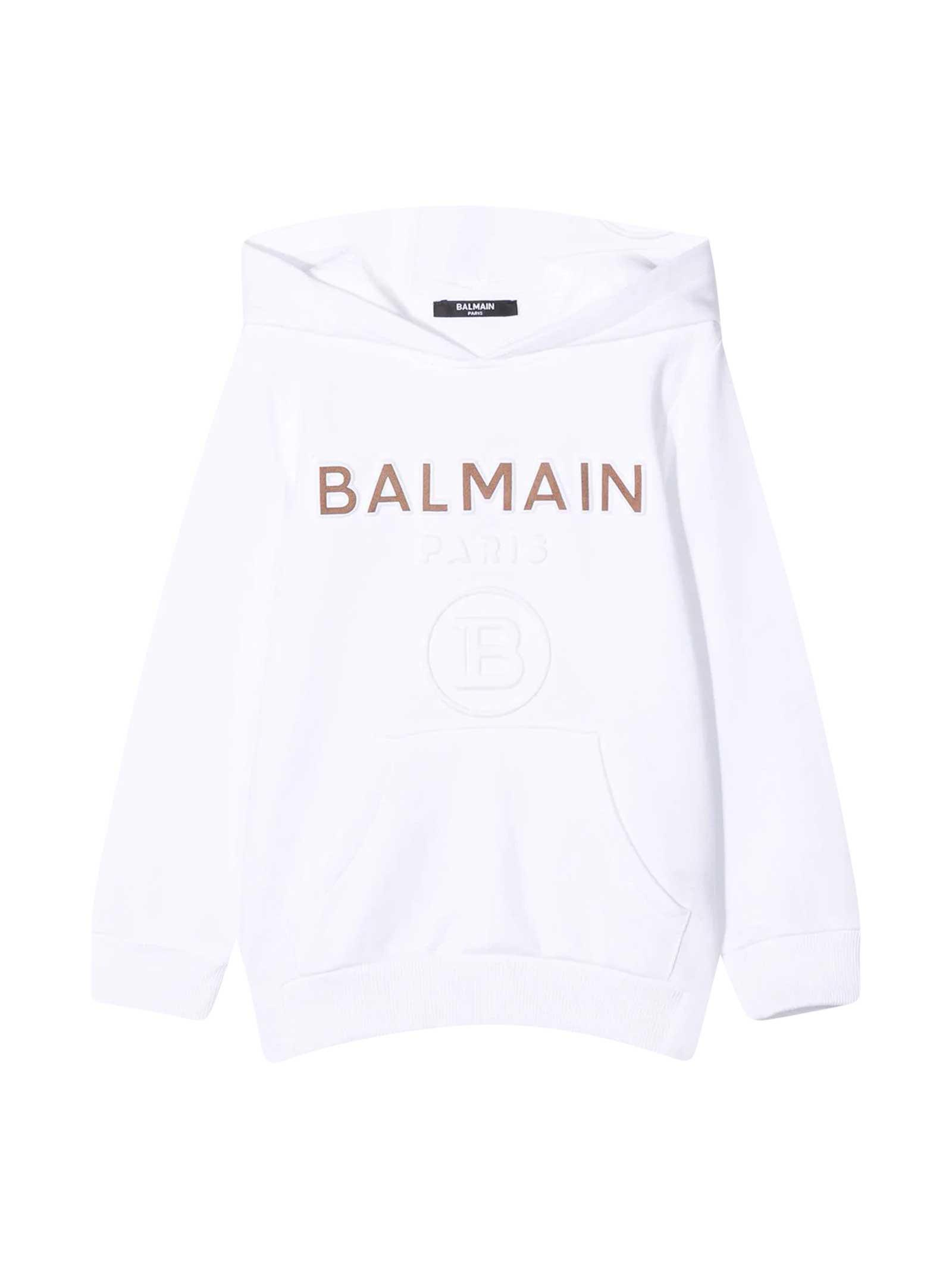 Balmain White Sweatshirt