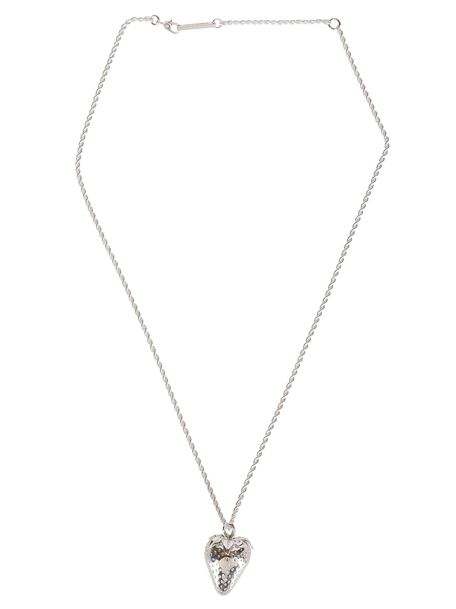 AMBUSH Silver Strawberry Necklace