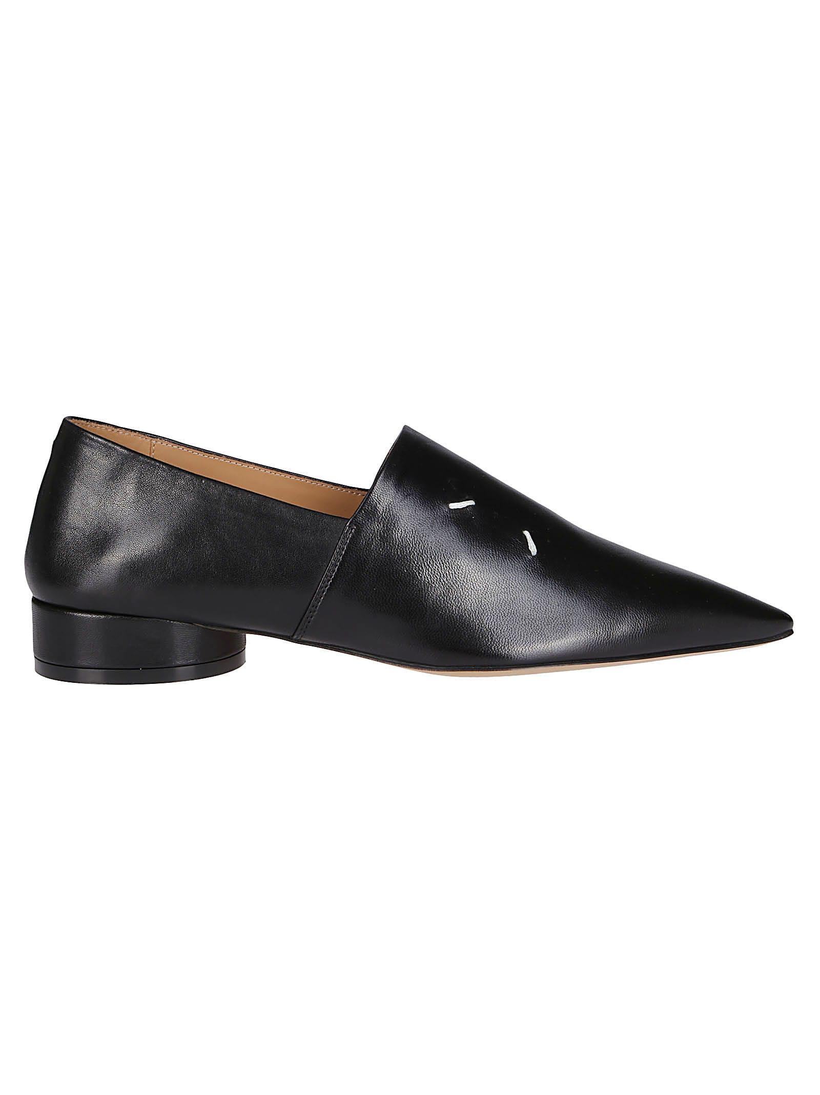 Maison Margiela Black Leather Loafers