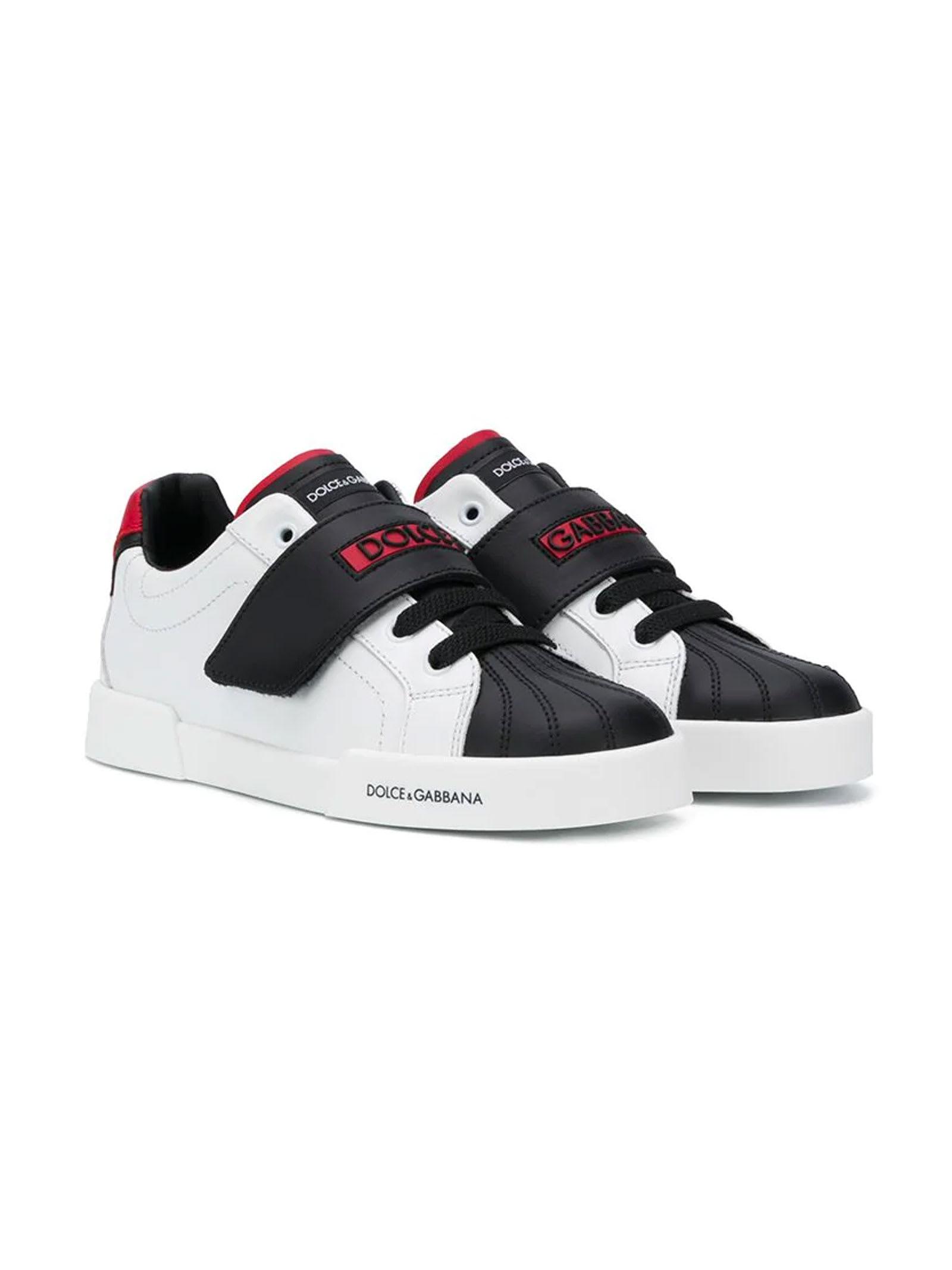 Dolce & Gabbana Black And White Sneakers Dolce & gabbana Kids