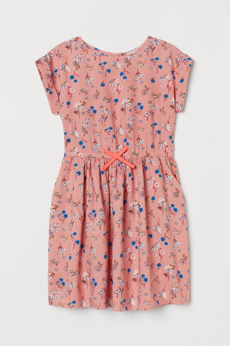 H & M - 印花洋裝 - 粉紅色