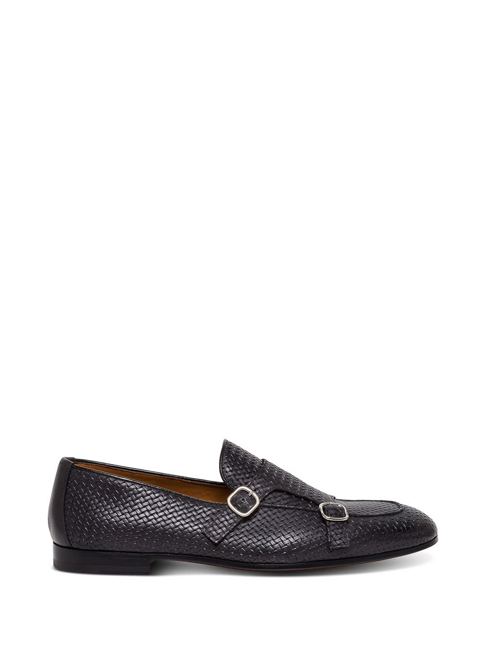 Doucals Braided Leather Loafers With Buckles