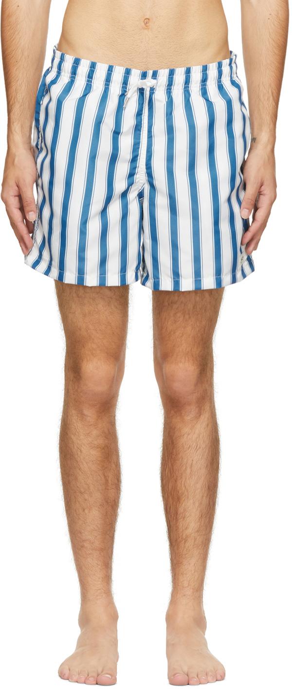 Bather 蓝色 & 白色条纹泳裤