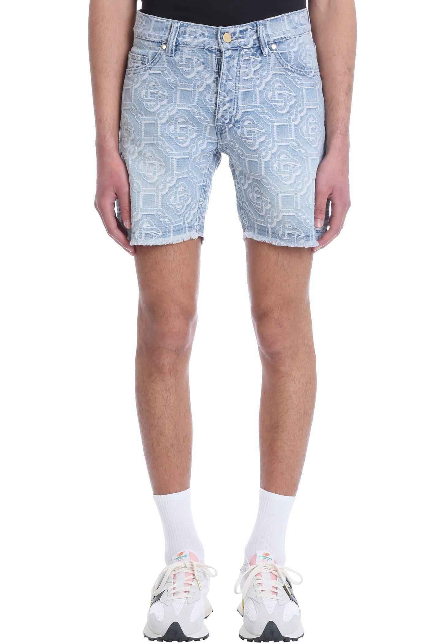 Casablanca Shorts In Cyan Denim