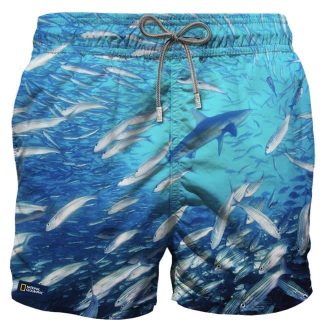 MC2 Saint Barth Shark Photographic Print Swim Shorts