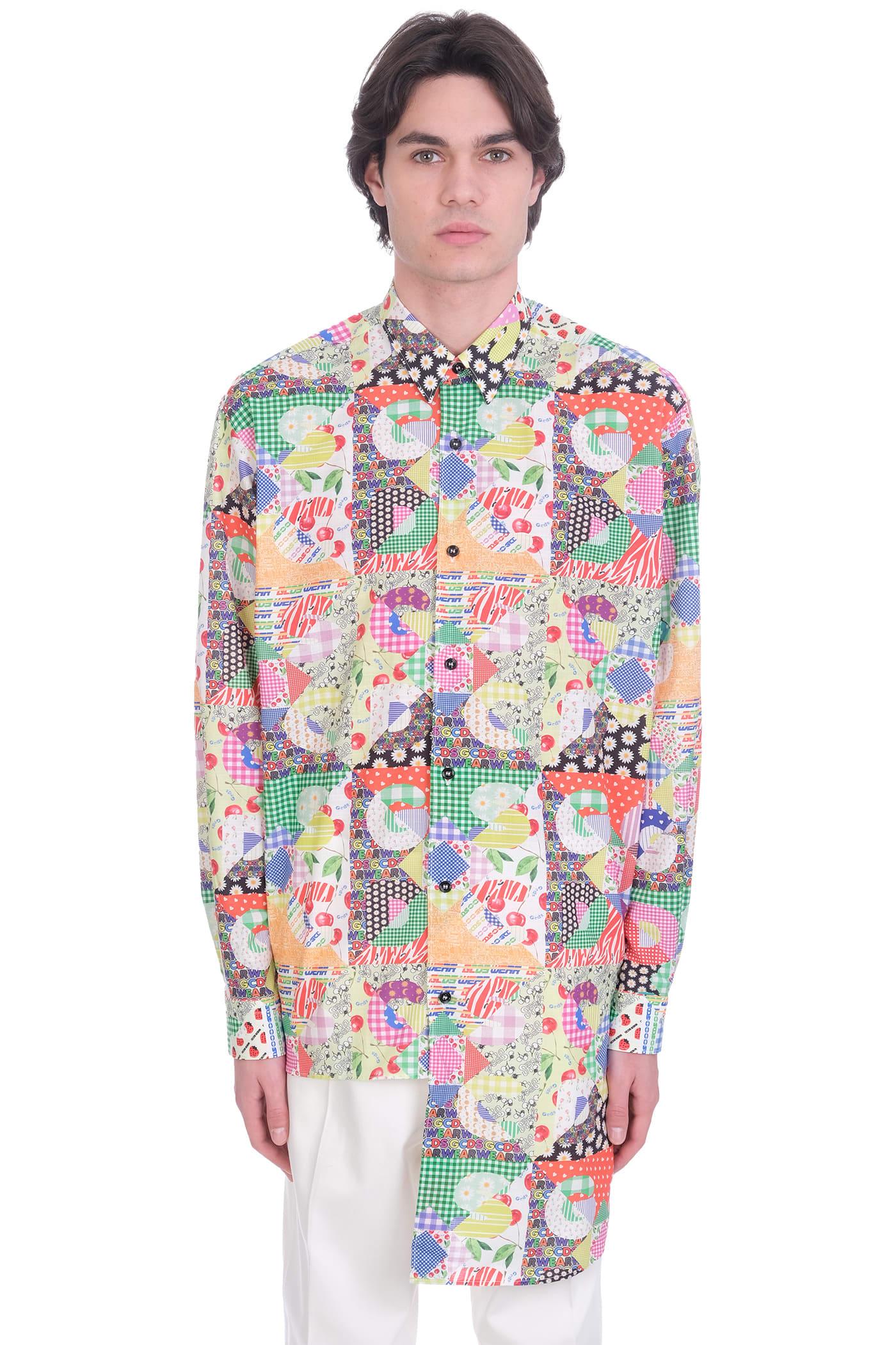 GCDS Shirt In Multicolor Cotton