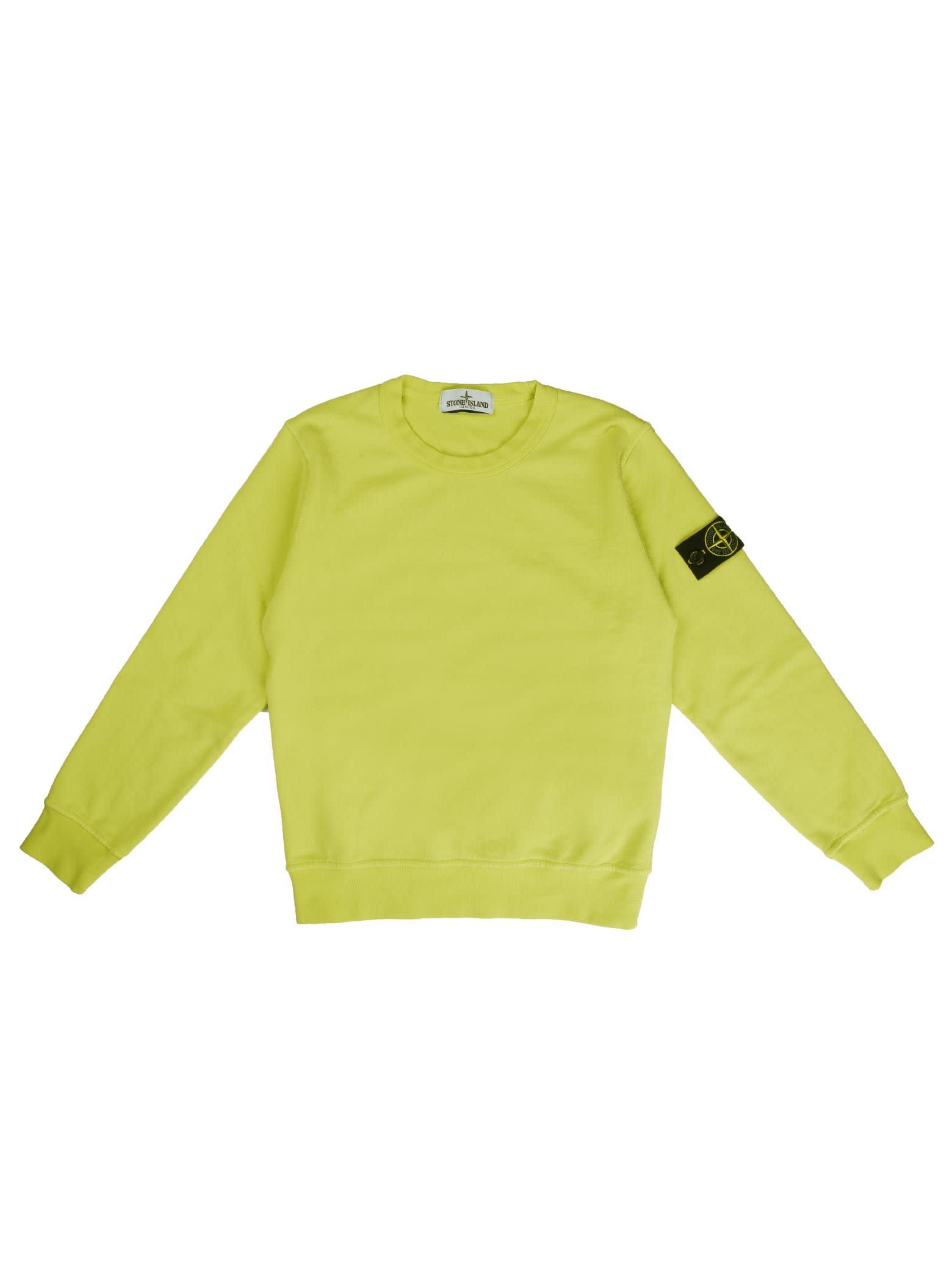 Stone Island Fluo Crew Neck Sweatshirt