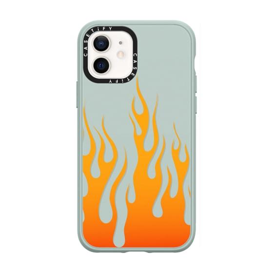 CASETiFY iPhone 12 Casetify Black Impact Resistance Case - FIRE BY AF. ILLUSTRATIONS