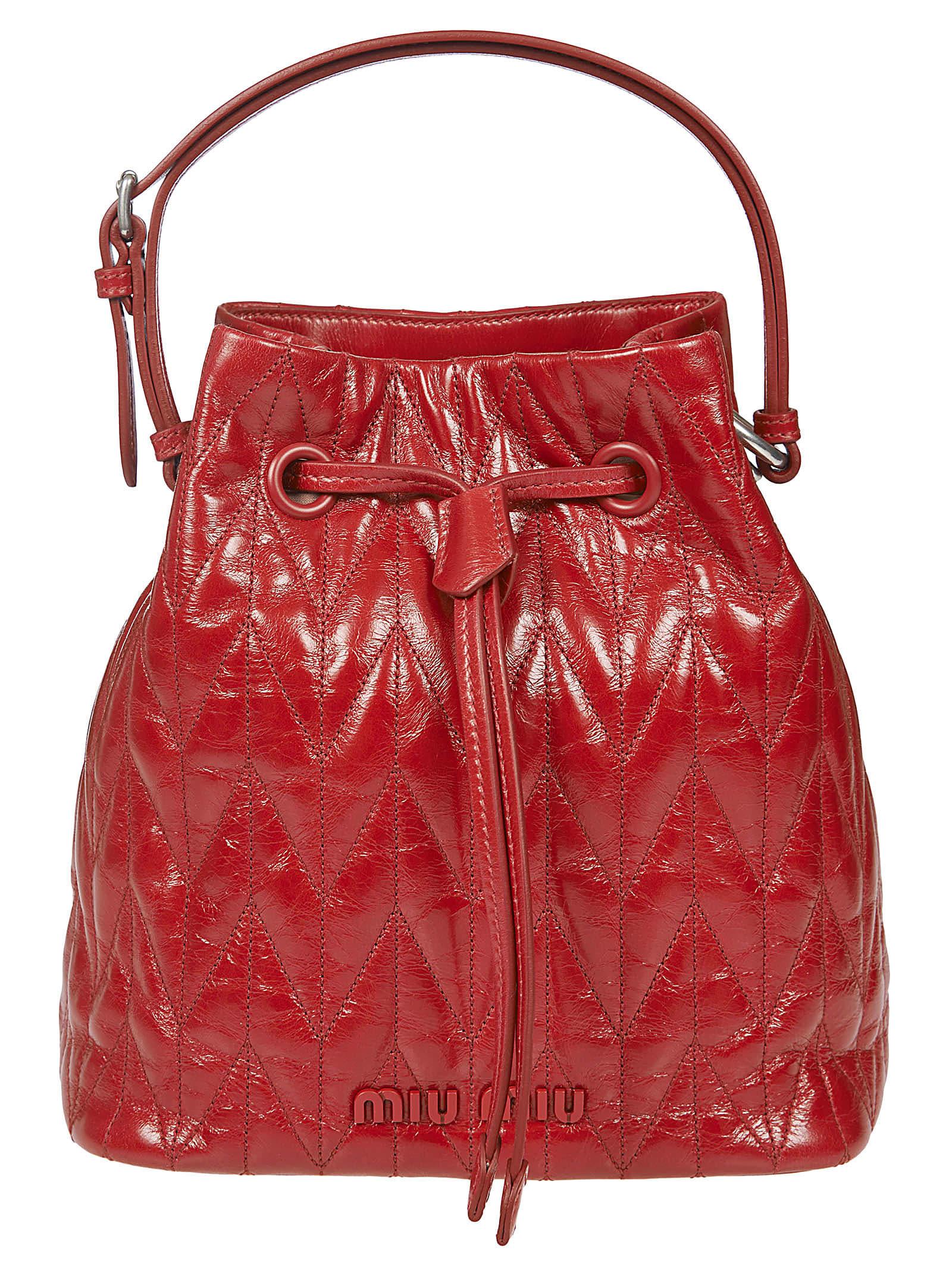 Miu Miu Quilted Bucket Bag