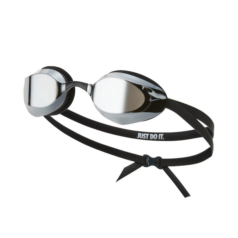 NIKE 泳鏡 Vapor Mirror Swim Go 游泳池 蛙鏡 專業型 成人 鏡面 黑 [NESSA176-040]