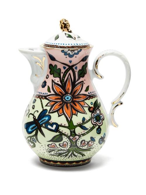 La DoubleJ - X Ladurée Tree Of Life Porcelain Teapot - Womens - Green Multi