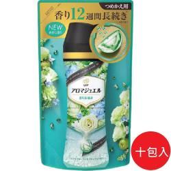 日本 P&G 2021最新版 幸福寶石衣物補充包 香香豆415ml 白玫瑰香-10包