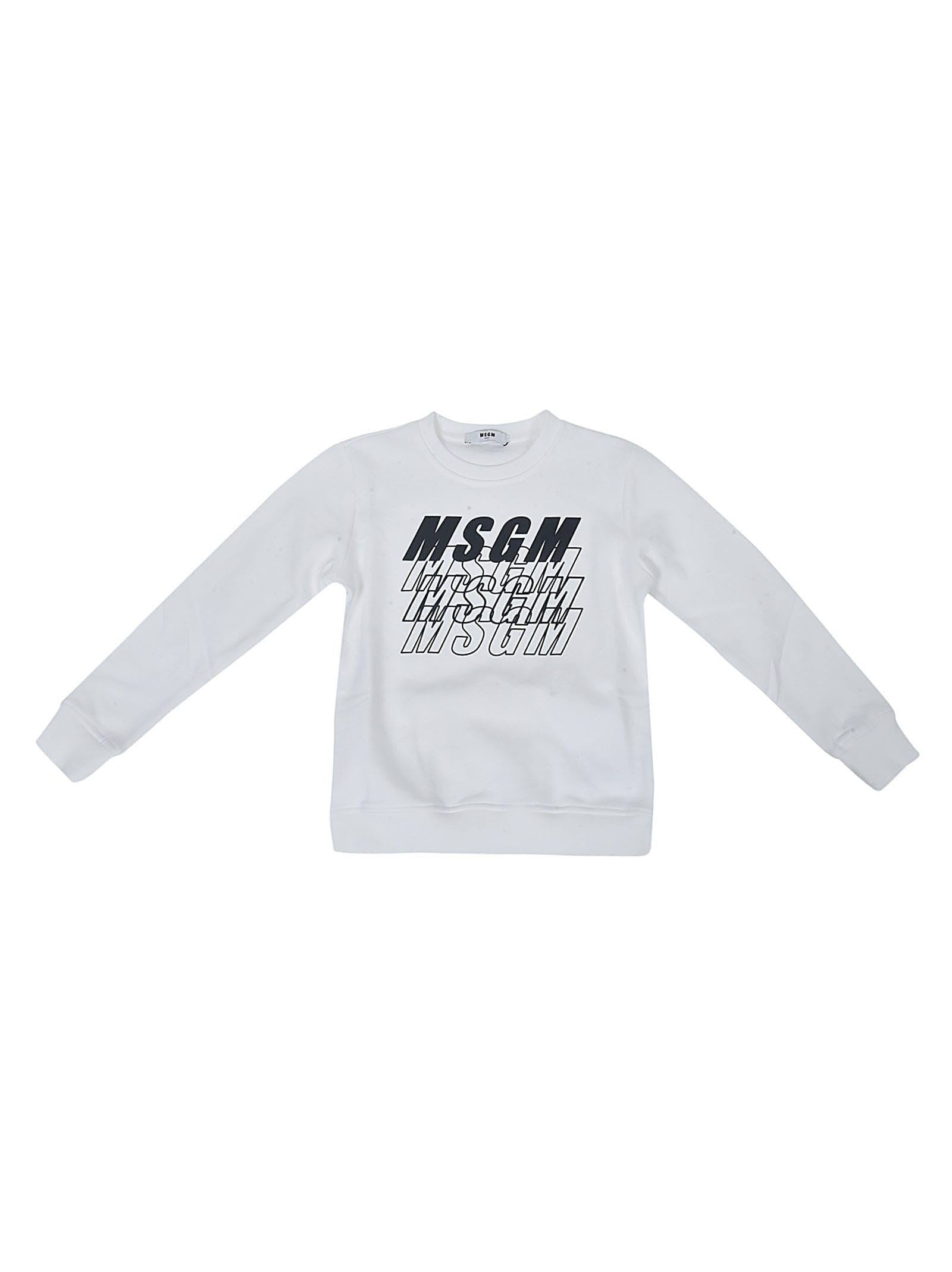 MSGM Multi-logo Printed Sweatshirt