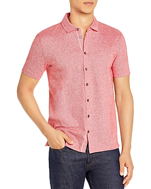 Boss Powell Button Up Relaxed Fit Polo Shirt