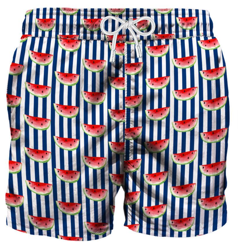 MC2 Saint Barth Watermelon Print Swim Shorts