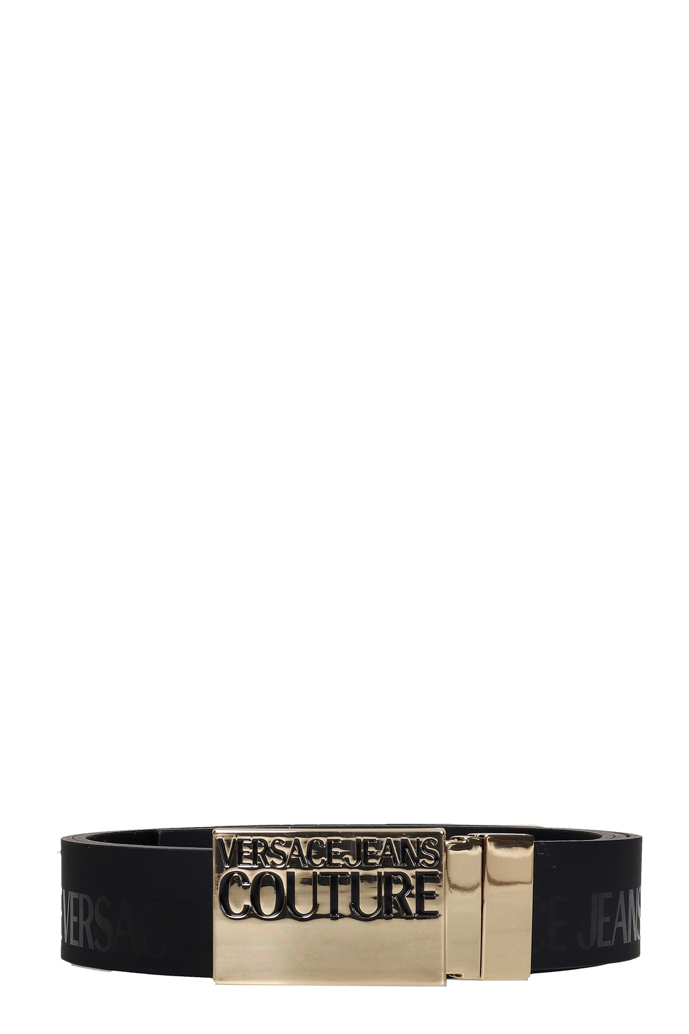 Versace Jeans Couture Belts In Black Leather