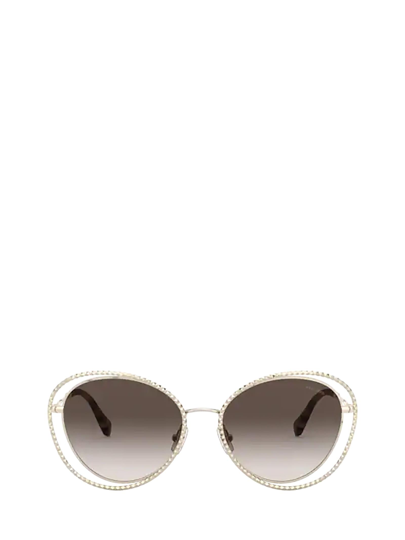 Miu Miu Miu Miu Mu 59vs Pale Gold Sunglasses