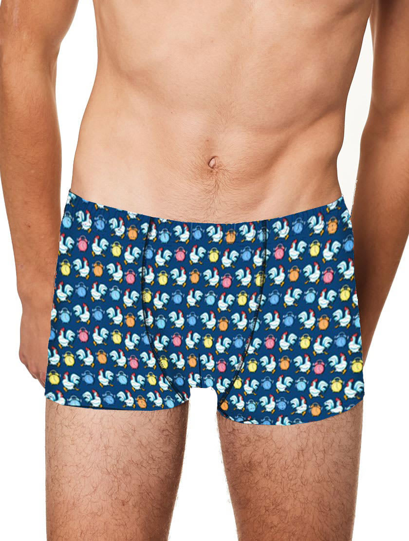 MC2 Saint Barth Micro Roosters And Alarms Print Underwear Boxer