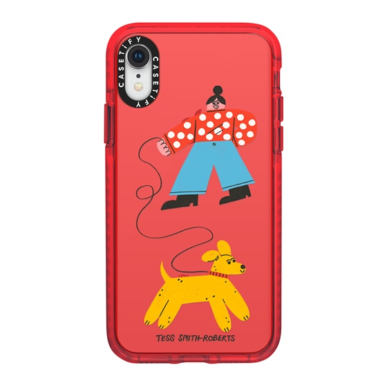 CASETiFY iPhone XR Impact Case - Dog Walk iPhone Case by Tess Smith-Roberts