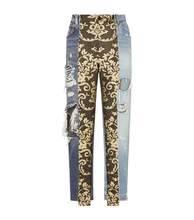 Dolce & Gabbana High-Rise Patchwork Jeans