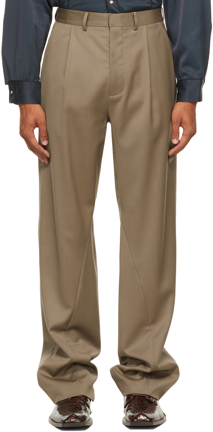 Bianca Saunders 棕色 Twisted Tailored 长裤