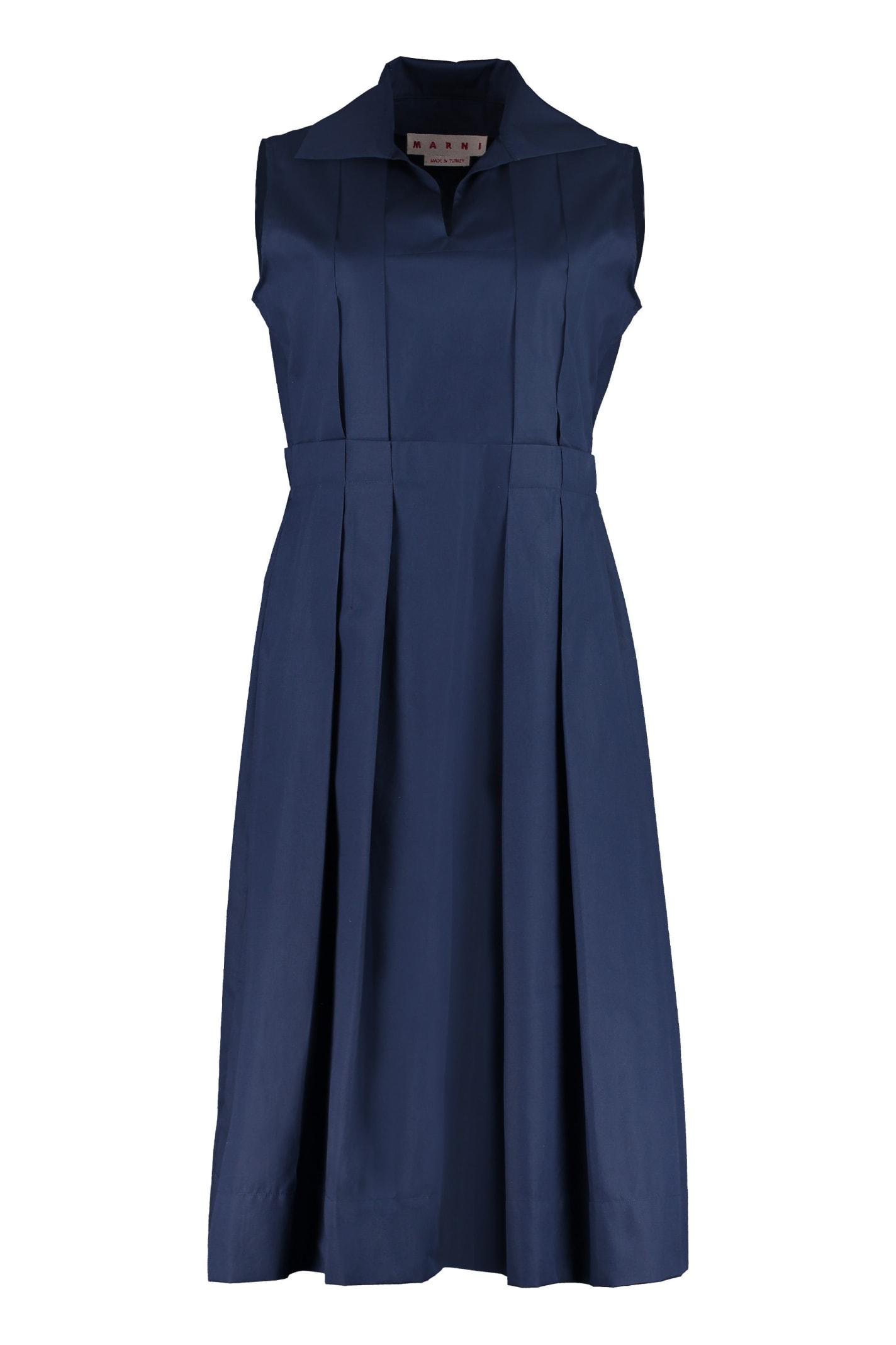 Marni Pleated Poplin Dress