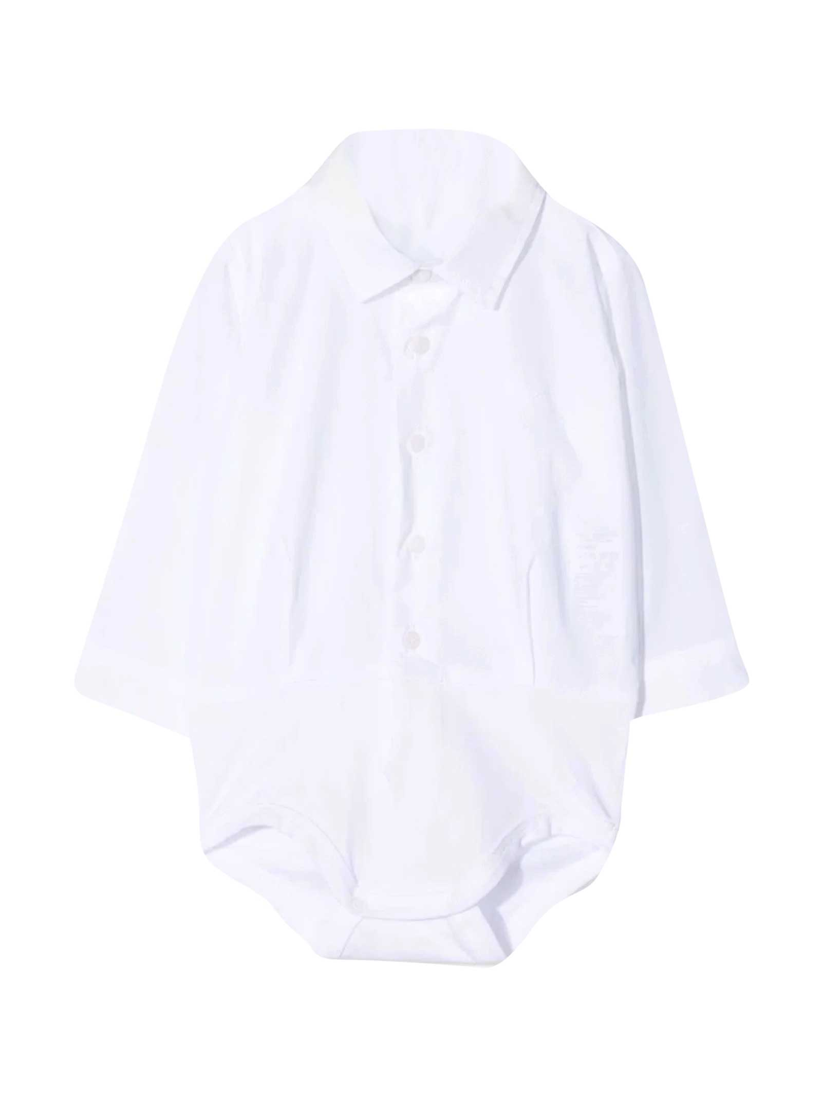 Il Gufo Shirt-style Bodysuit