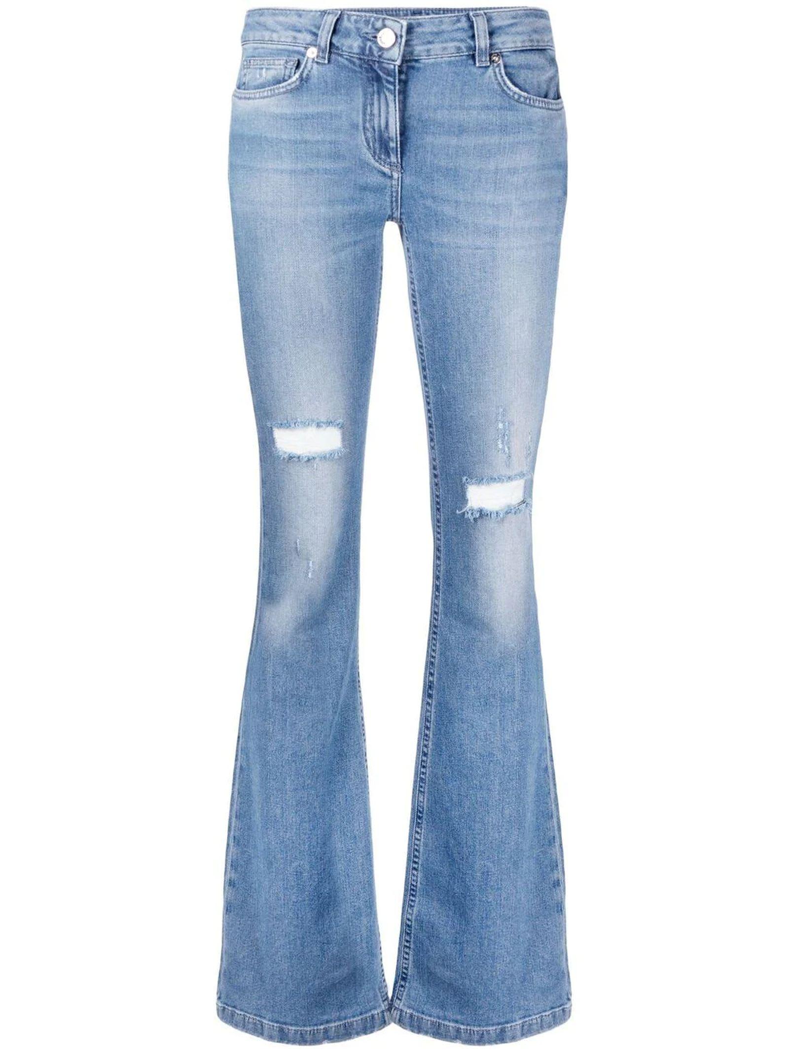 Blumarine Blue Stretch Cotton Jeans