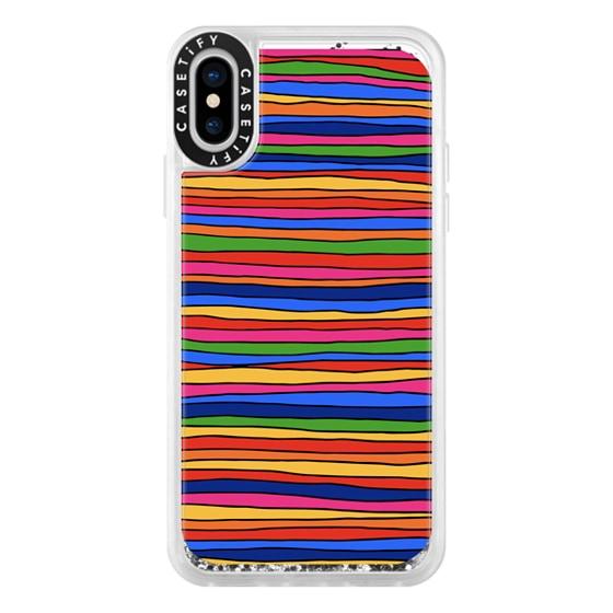 CASETiFY iPhone X Glitter Case - Stripes by Matthew Langille