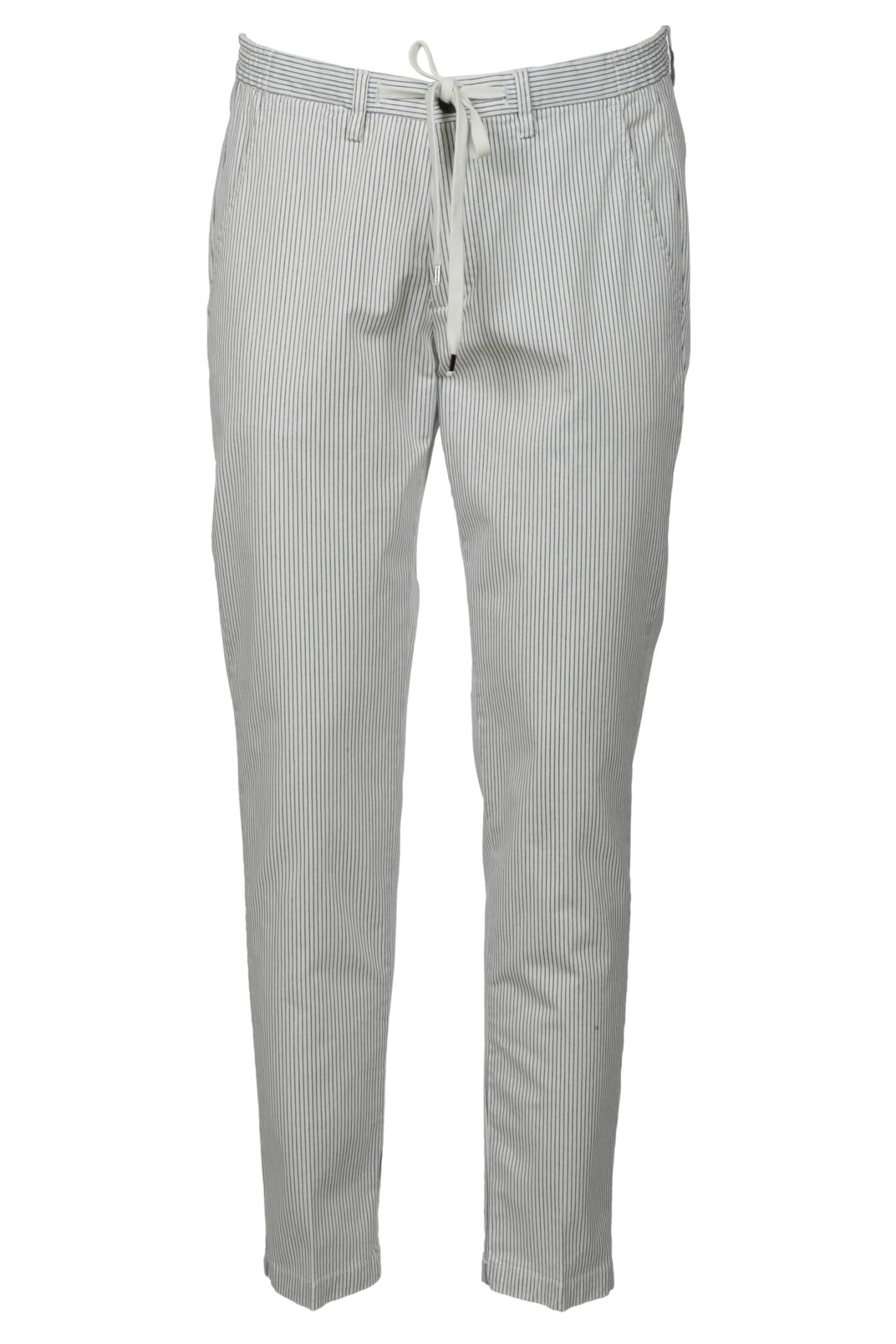 Briglia 1949 Tie-waist Stripe Cropped Trousers
