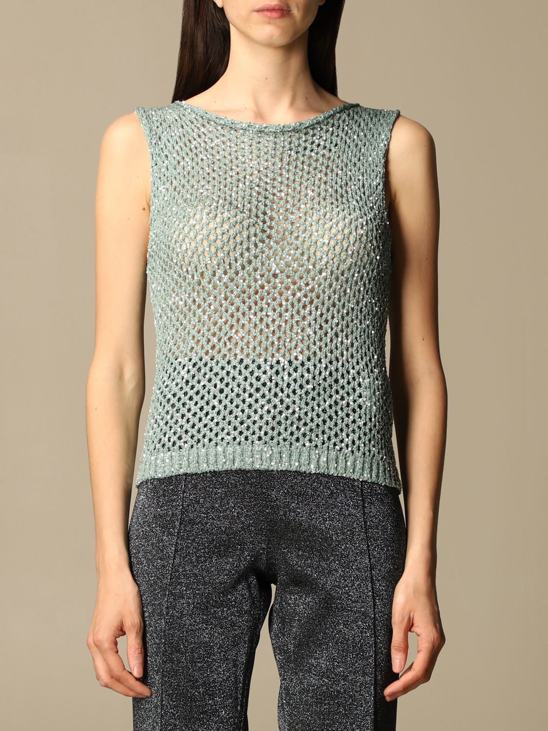 Missoni Top Missoni Mesh Top With Micro Sequins