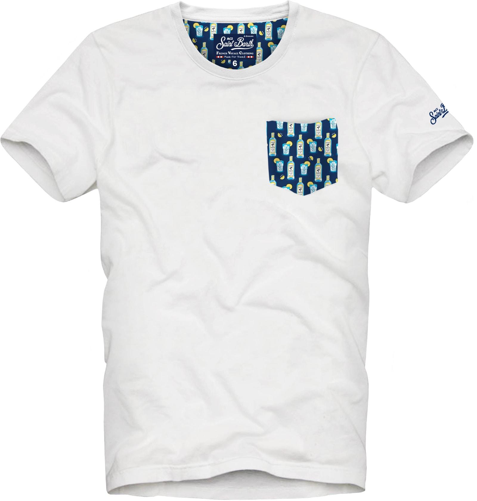 MC2 Saint Barth Micro Gin Tonic Print Pocket Man T-shirt