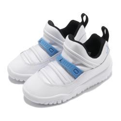 Nike 休閒鞋 Jordan 11 Retro 童鞋 喬丹 襪套 舒適 簡約 小童 輕便 白 藍 BQ7102114 [ACS 跨運動]